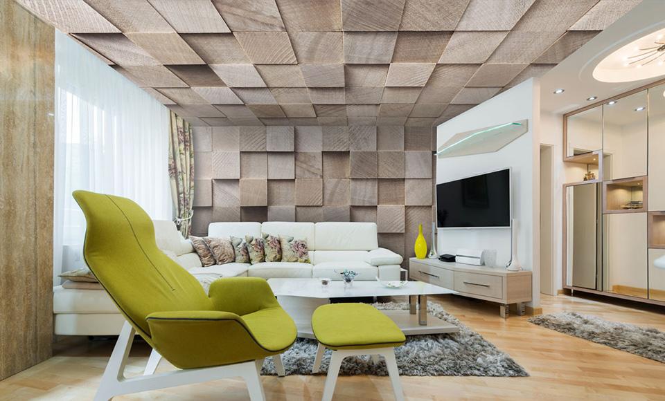 plafond imprimé avec motifs